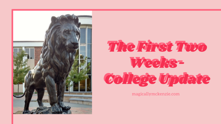 The First Two Weeks- College Update